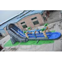 China 27ft high cheap giant inflatable water slide for adult double slip n slide for sale on sale