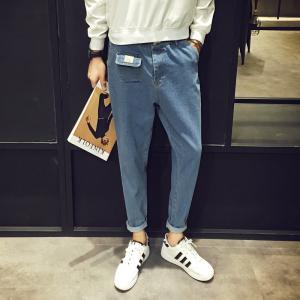 Quality Korean Biker Style Mens Loose Straight Designer Jeans Cargo Multi Colored for sale