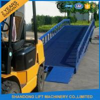 Quality Warehouse Hydraulic Container Loading Ramps0.9m - 1.8m Lifting Height CE ISO9001 SGS for sale