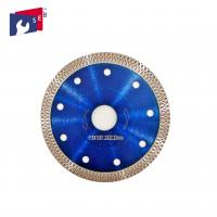 China 115 X 10 Mm Diamond Saw Blades Blue Color Polish Or Painted Finishing on sale