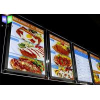 Quality Advertisement Crystal LED Menu Board , Backlit Menu Board Light Box 24 x 36 for sale