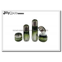Quality Ink Green Empty Makeup Containers Lotion Plastic Cosmetic Containers With Lids for sale