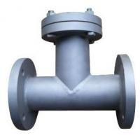 Quality T Type Flanged Y Strainer Filter Strainer Cast Steel Body Long Working Life for sale