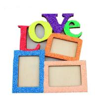 China Hot Love Wooden Photo Frame With 3 Wood Picture Frame DIY Gift Home Decor GiftXW on sale