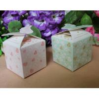 China Food Disposable Paper Box Packaging /  Bio - Degradable Corrugated Box For Candy on sale