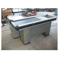 Buy Multifunctional Supermarket Conveyor Belt Checkout Counter / Retail Cash Desk at wholesale prices