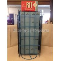 Quality Metal Hair Color Tinned Dye Accessories Display Stand Double Sided Custom Signage for sale