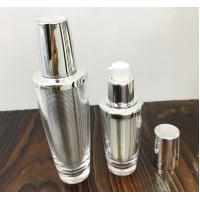 Quality Empty shiny gold silver acrylic cosmetic lotion pump bottle 30ml  60ml  double wall plastic bottle for sale