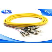 Quality ST Fiber Optic Pigtail 3 Meters Jacketed 12Pk SM Yellow Jacketed For Multimedia for sale