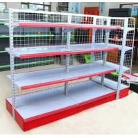 Quality Double sided Grid Panel Collapsible Supermarket Display Shelving Light duty for sale