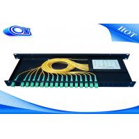 Quality Indoor Waterproof 1 X 32 Inserting Optical PLC Splitter Total Enclosed Structure for sale