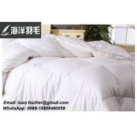 Quality 100% Cotton Washed White goose feather and down duvet for sale