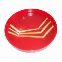 Quality Anti-slip/-skid plastic bar tray/beer tray/waiter tray, available in round shape for sale