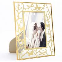 China Beautiful Brass And Glass Picture Frame For Living Room Bedroom on sale
