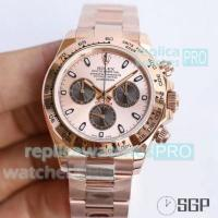 Quality JH Factory Swiss Copy Rolex Daytona All Rose Gold Watch for sale