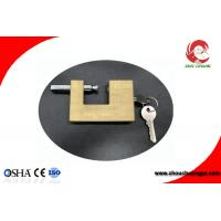 Quality Safety Brass Padlock In Strong Rectangular Lock Body Width 50mm for sale