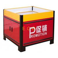 Quality Movable Metal Promotion Display Counter Store Supermarket Accessories L1000 * W1000 * H850 mm for sale