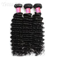 Quality Deep Wave Cambodian Grade 6A Virgin Hair  Natural Black  No Terrible Smell for sale