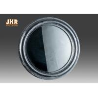 Quality Pratical Glass Framed Fiberglass Wall Mounted Vanity Mirror Round Shape for sale