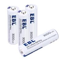 Long Lasting 3000mAh Rechargeable Cell Batteries , AA Lithium Ion Battery 1.5V