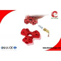 Quality Red Color Small Size Industrial ABS Pneumatic Quick-Disconnect Lockouts for sale