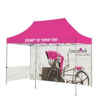 Quality Washable Outdoor Craft Show Tents Full Color Heat Transfer Printed Full Wall for sale
