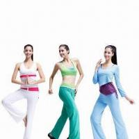 Quality Yoga Wear, Made of 95% Cotton and 5% Spandex for sale