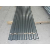 Quality Eco friendly Dark Grey Prepainted Corrugated Metal Wall Panels or  Zincalume Sheet for sale