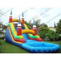 Quality Commercial Grade Inflatable Water Slides Games Fire Proof 0.9mm Pvc for sale