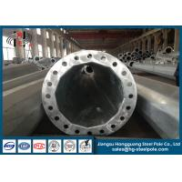 Quality HDG Q235 Circular Steel Utility Poles for Electrical Distribution Line ISO / CNAS / CA for sale