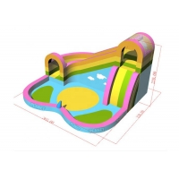 China Family Use Inflatable Bouncer With Water Slide And Pool For Sale on sale