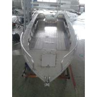 Quality 3.00mm V Type Aluminum Flat Bottom Boats For Fishing , CE Certification for sale