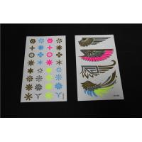 Quality Fluorescent jewel flower tattoo stickers under UV IR light for sale
