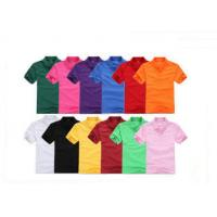 Quality Colorful Short Sleeve Mens Cotton Polo Shirts Blank , Women Embroidered Polos for sale