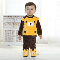 Quality Infants and young children two-piece brown bear children's suit (0-3 Year) for sale