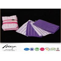 Quality Solid Terry Stripe Microfiber Cleaning Cloth For Kitchen , automotive microfiber towels for sale