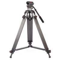 China Lightweight Black Camcorder Canon Digital Camera Tripod with Fluid Head on sale