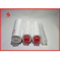 Close Virgin Spun Polyester Yarn With Raw White For Sewing / Knitting Coats