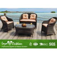Buy cheap Leisure Hotel Garden Outdoor Sofa Round Coffee Table Wicker Hotel Garden Coffee Sofa from Wholesalers