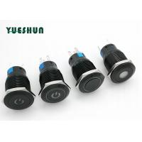 Quality 12V 24V LED Lighted Aluminum Push Button Switch , Waterproof Push Button On Off Switch for sale