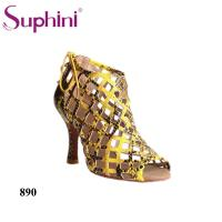 China Suphini High Heel Snake Women Party Lantin Dance Shoes Boots on sale