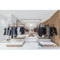 China Fashion Brand clothing store Design Stainless steel display racks with Shelves and Reception Leisure Furniture couch on sale