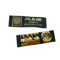 China Custom Embroidered Plain Clothing Woven Labels, Name Label For Bags, Shoes, Hats, Gloves on sale