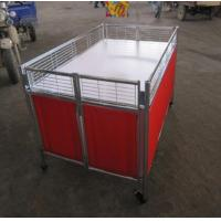 Quality Movable Supermarket Accessories Promotion Table Stand With Wheels For Retail Store for sale