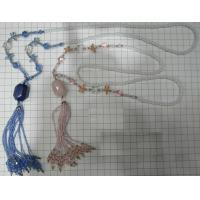 China beaded necklace withbeaded tassel on sale