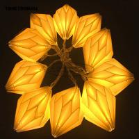 Quality Origami White Paper lantern String Lights 15cm window Party Decoration for sale