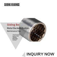 Quality Bimetal Bearing Bushes CuPb10Sn10 Thin Walled Graphite Self-Lubricating for sale