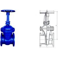 Quality Electric Actuated Water Cast Steel Gate Valve 150lb - 1500lb Pressure for sale
