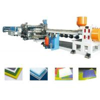 Quality PP PE PC PVC Board Extrusion Line , Single Screw Extruder Machine for sale