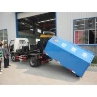 Quality Chang'an 4*2 LHD mini hook lifter garbage truck for sale,best price and high quality Chang